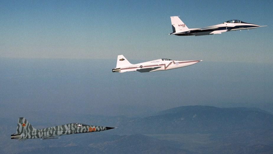 Unmodified F-5, Modified F-5 SSBD, F-15 Research Plane