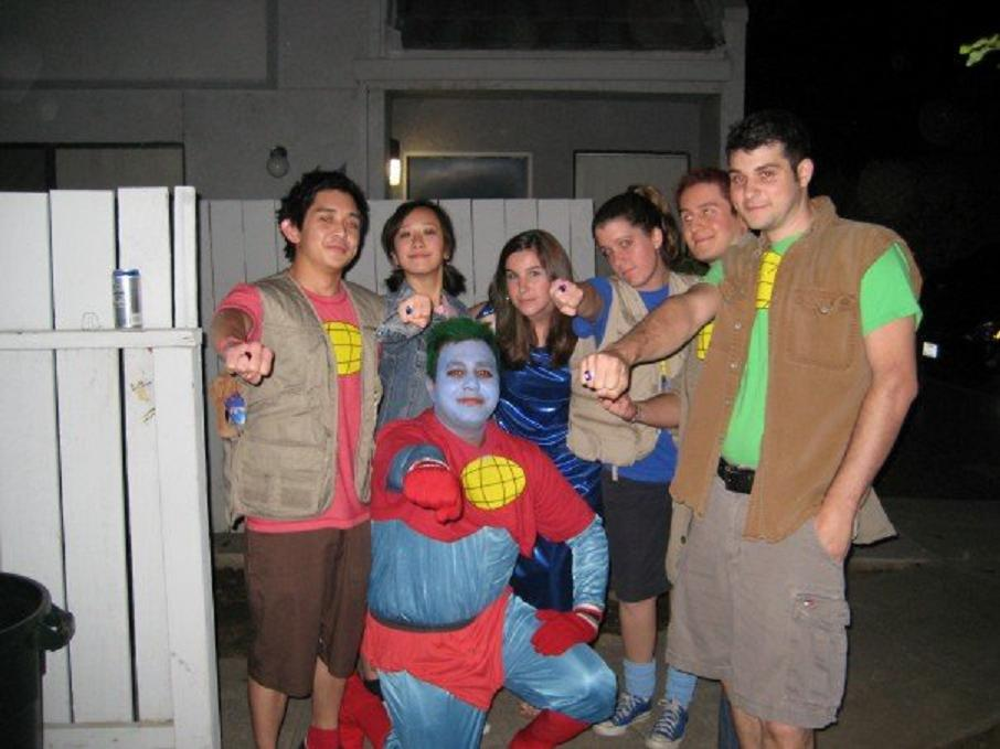 captain planet hes our hero i just couldnt resist putting this picture up this picture is of a bunch of my friends who dressed as captain planet and