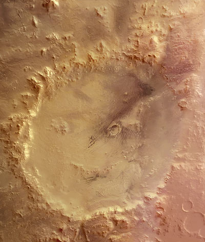 Crater Galle: The 'Happy Face' On Mars