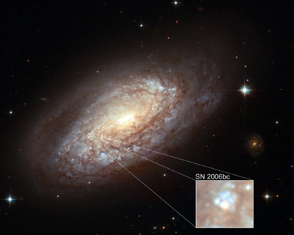 Spiral Galaxy NGC 2397 Shows Us An Early Look At Supernova SN 2006bc
