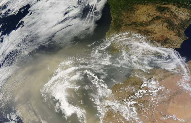 Sahara Dust Cools The Iberian Peninsula