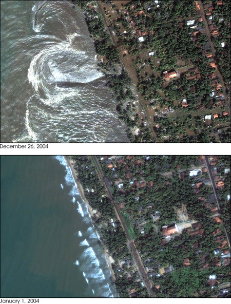Sumatran tsunami at Sri Lanka