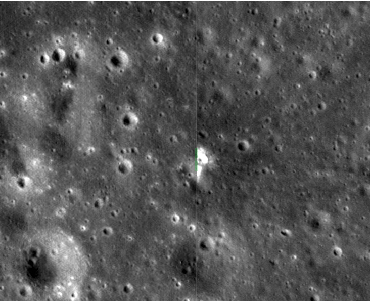 LRO Finds Impact Crater Of Largest Lunar Explosion Ever Recorded