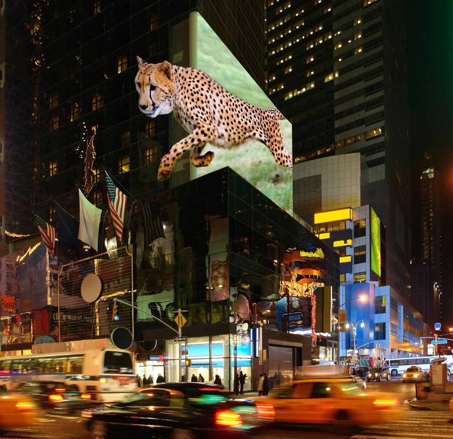 Giant Billboards In 3-D, No Glasses Needed