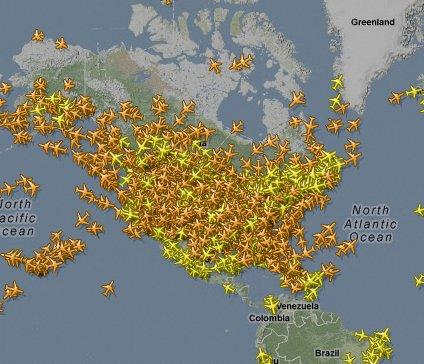 Chemtrails Or Acid Rain Science - Us air traffic map