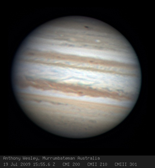 Anthony Wesley Murrumbateman Australia dark spot on Jupiter