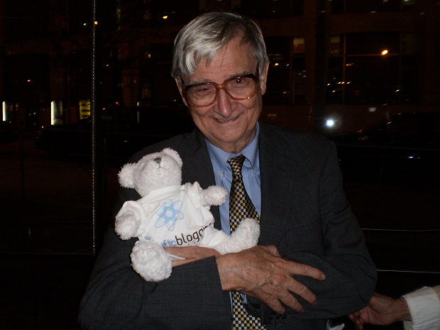 Edward O. Wilson with Bloggy at World Science Festival Lincoln Center