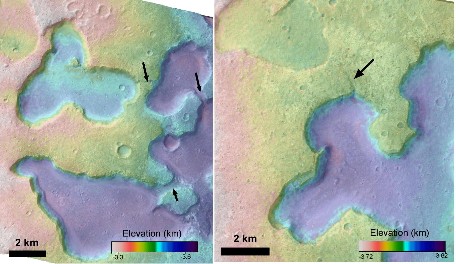 Satellite Images Reveal Evidence Of Ancient Lakes On Mars