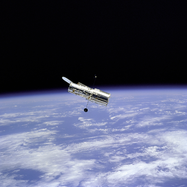 The tiny Hubble (courtesy NASA/ESA)