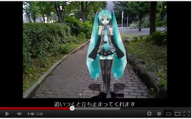Augmented Reality = Cool. Date With Hatsune Miku = Kinda Weird