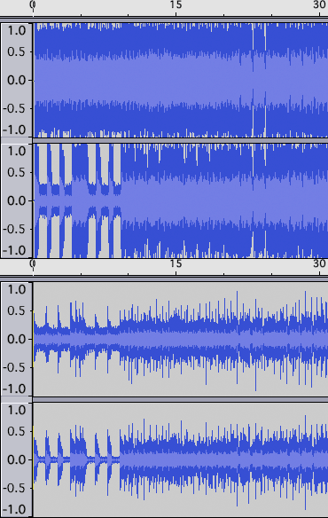 30 sec from Metallica «My Acopalypse». CD version above Guitar Hero version and with left-hand track above right-hand track (Wikipedia)