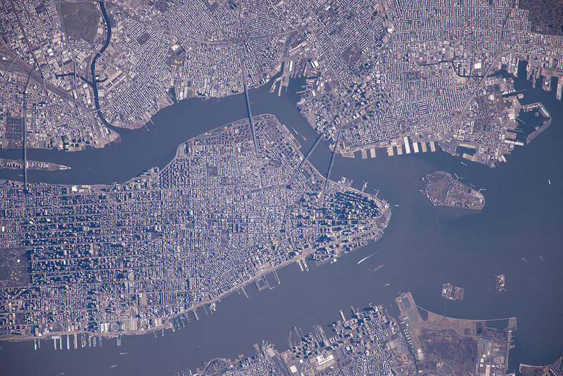 Manhattan seen from ISS