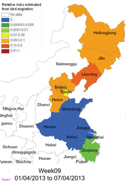 Bird Flu: H7N9 Infection Risk Mapped