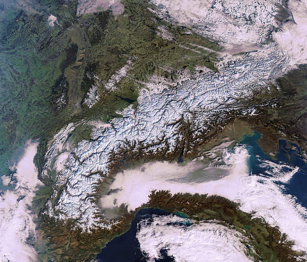 Snow on alps