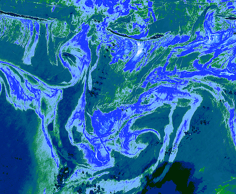Oil Spill Gulf of Mexico Blue Green