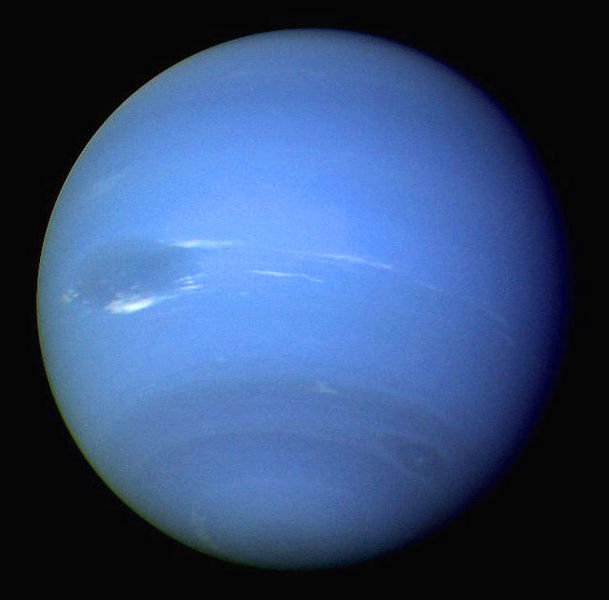 Neptune, as seen by Voyager 2