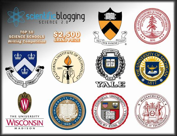 Scientific Blogging Top 10 Graduate Schools Writing Competition Begins Next Week