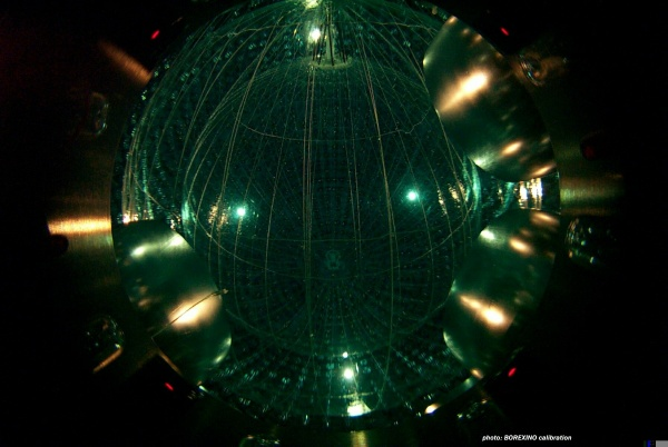 Borexino: Measuring elusive neutrinos flowing through Earth, physicists learn about the Sun