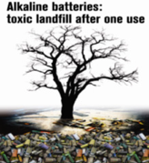 Single use batteries generate environmental pollution