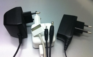 Some different sized-chargers used nowadays