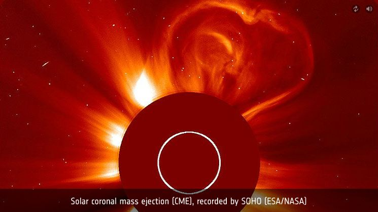 Solar coronal mass ejection shaped like a heart