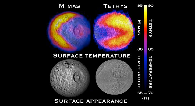 Cassini finds a video game character in Saturn's moon Tethys