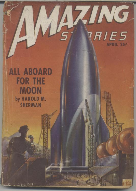 Front cover of Amazing Science Fiction Stories, Volume 21 Number 4, April of 1947