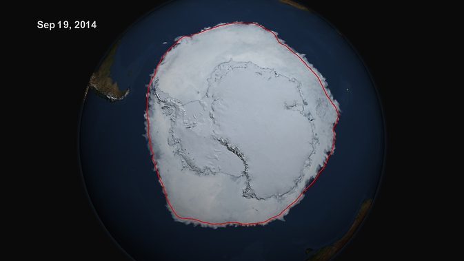 20 Million Square Kilometers - Antarctic Sea Ice New Record Maximum