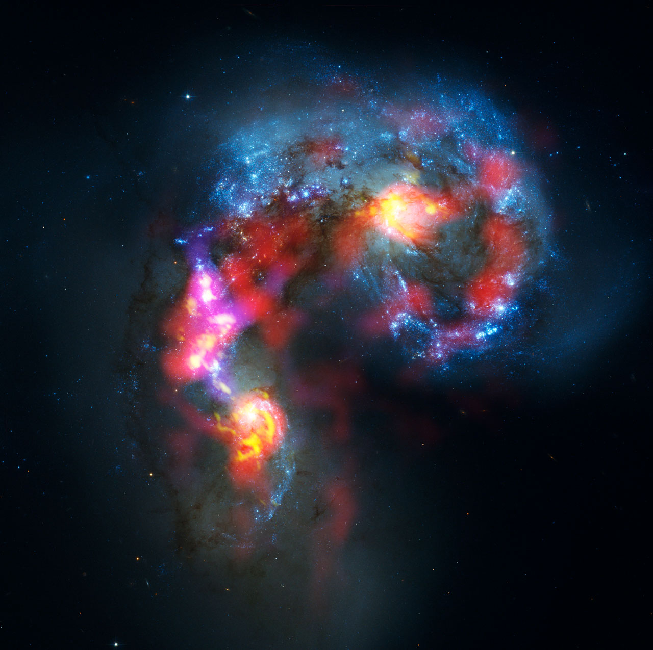 antenna galaxies alma and hubble