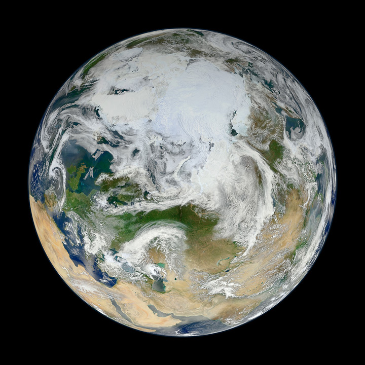 Blue marble Arctic View