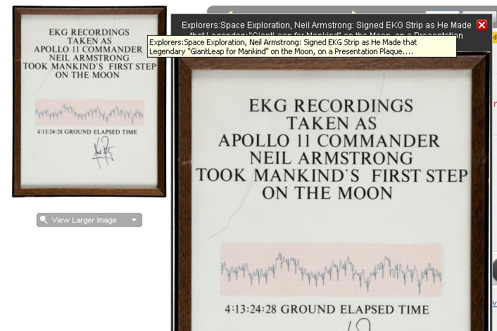 Two Armstrong EKG Readings - A Question Of Provenance