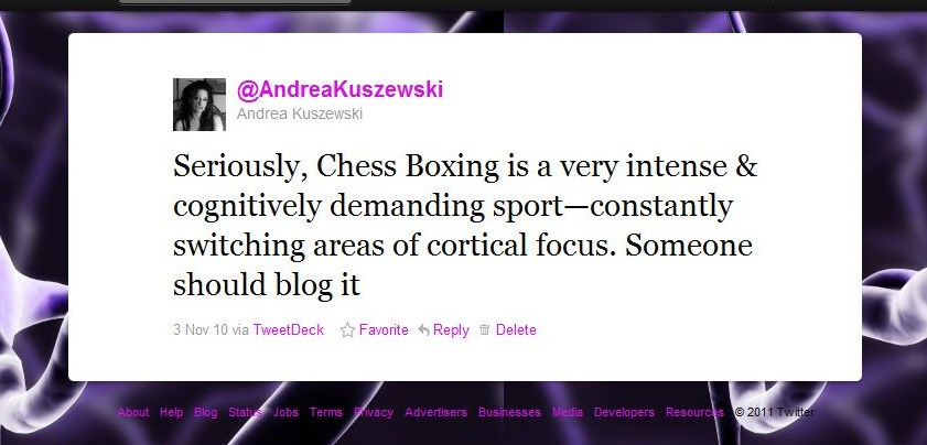 Chessboxing For Science