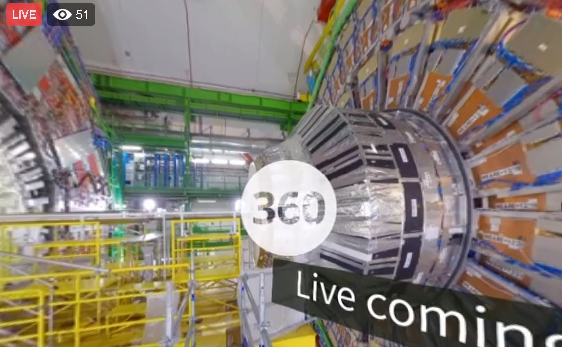 Live Completion Of Detector Installation From CERN - NOW!