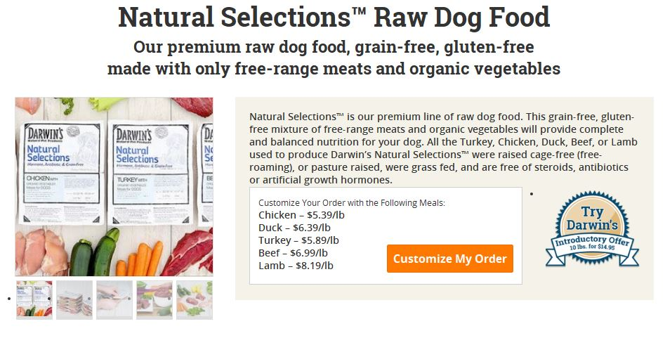 Darwin's Raw Dog Food Ironically Uses No Biological Science And Will Poison Your Pet