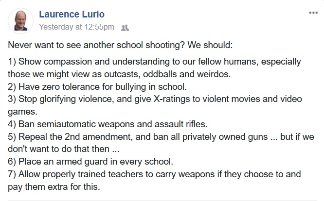 Basic Arithmetic: Of Guns and Armed Teachers.