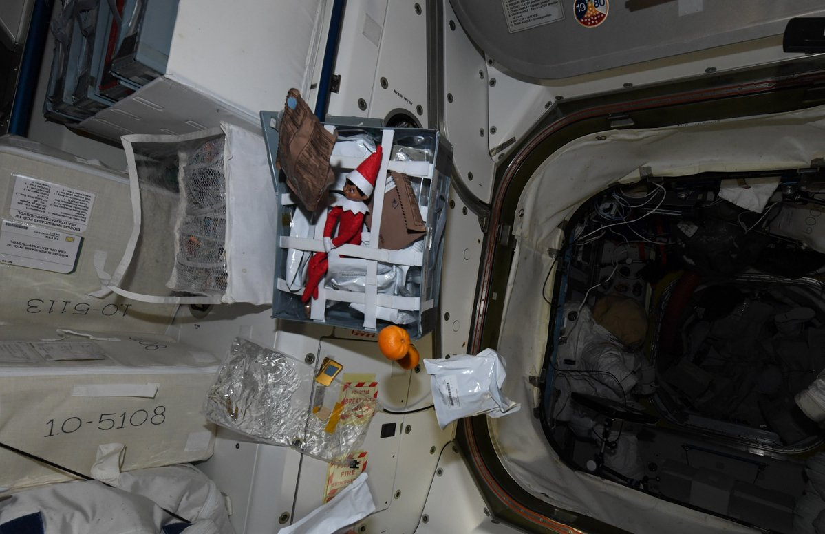 Elf On A Shelf Goes To Space