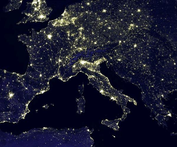 europe night pollution