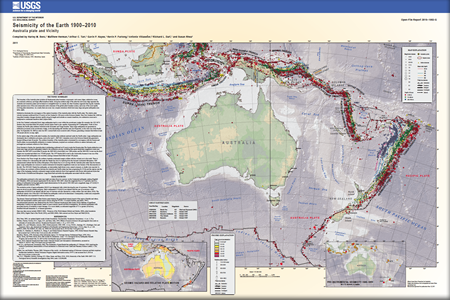 Ring of Fire - historic map of seismic activity in the Pacific/Australia
