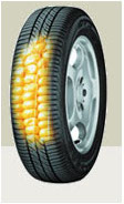 New tyre produced with biopolymers