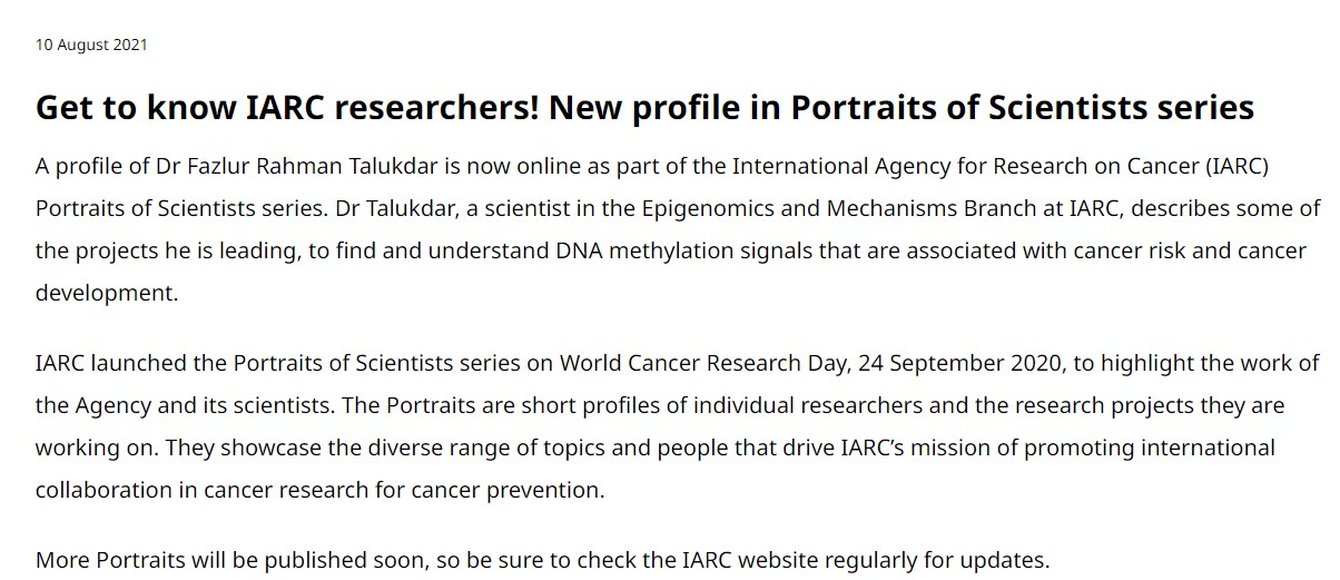IARC Creates A 'Get To Know A Scientist' Series - Now They Just Need To Hire One