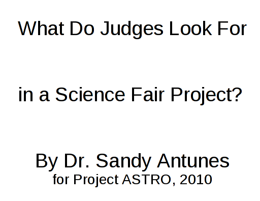Winning Science Fair Secrets From A SciFair Judge