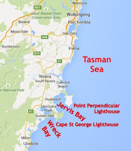 Australia Map Jervis Bay.Australia Algae And Abalone Science 2 0