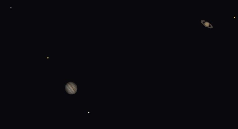 Jupiter And Saturn Put Up Quite A Show