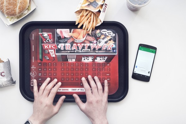 KFC Tray Typer - Because You Can't Eat Lunch Without Updating Pinterest