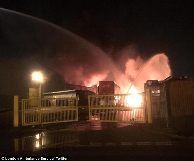 Erith Industrial Unit Fire