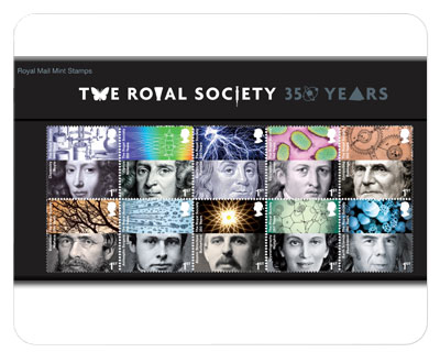 The Royal Mail Celebrates 350 Years Of The Royal Society