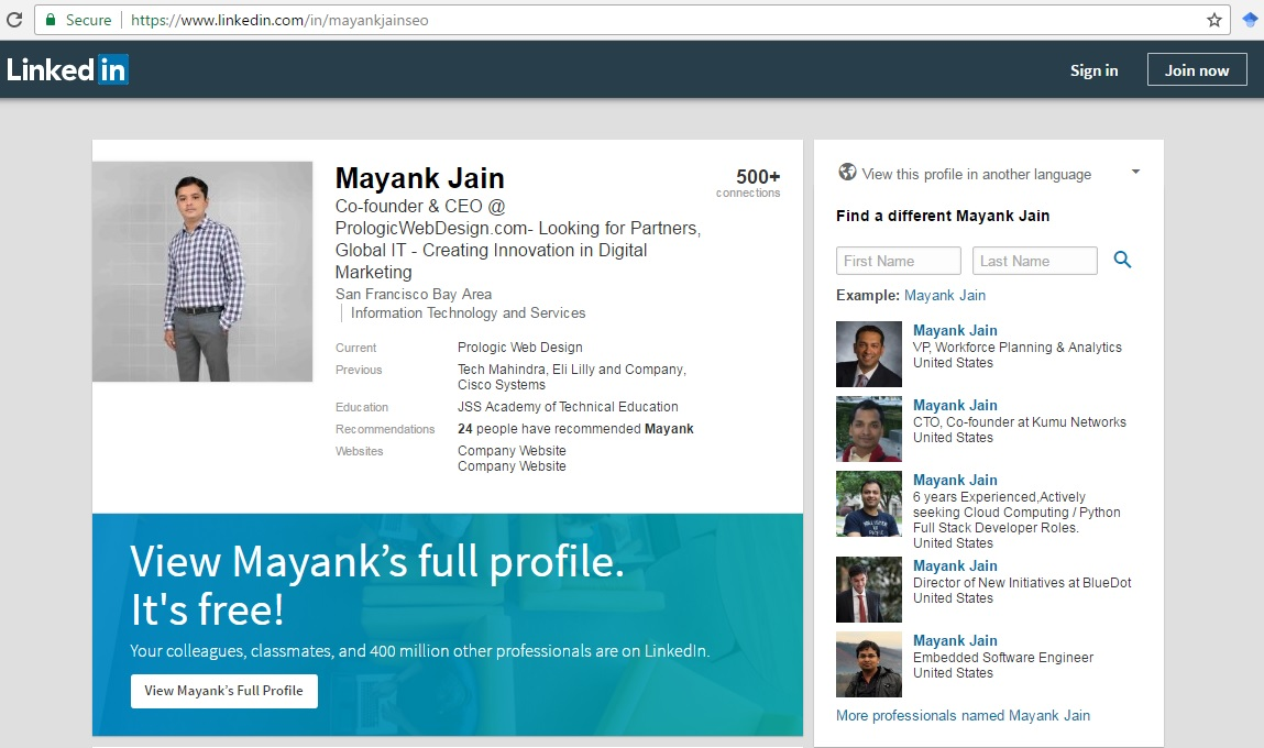 Mayank Jain first view