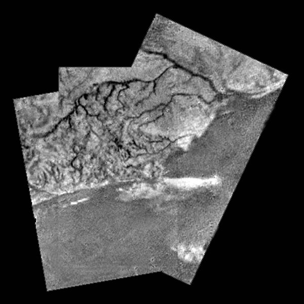 River Like The Nile Seen On Titan