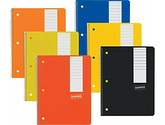 you can buy these fine open notebooks at staples.com!