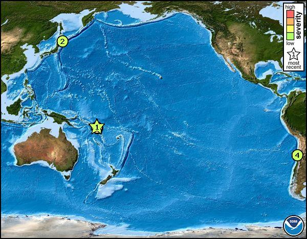 Location of the Santa Cruz Islands earthquake